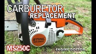 Lawn Care - Stihl ms250 muffler mod , and ebay carb