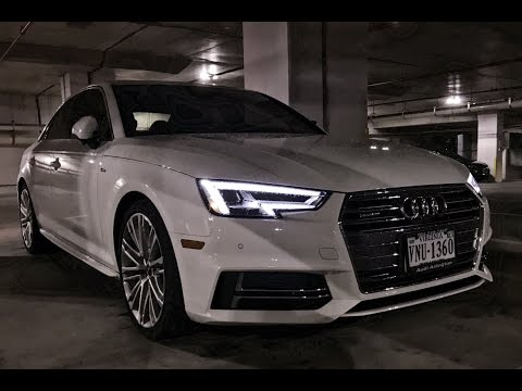 2017 Audi A4 Night Review (LED Lighting)