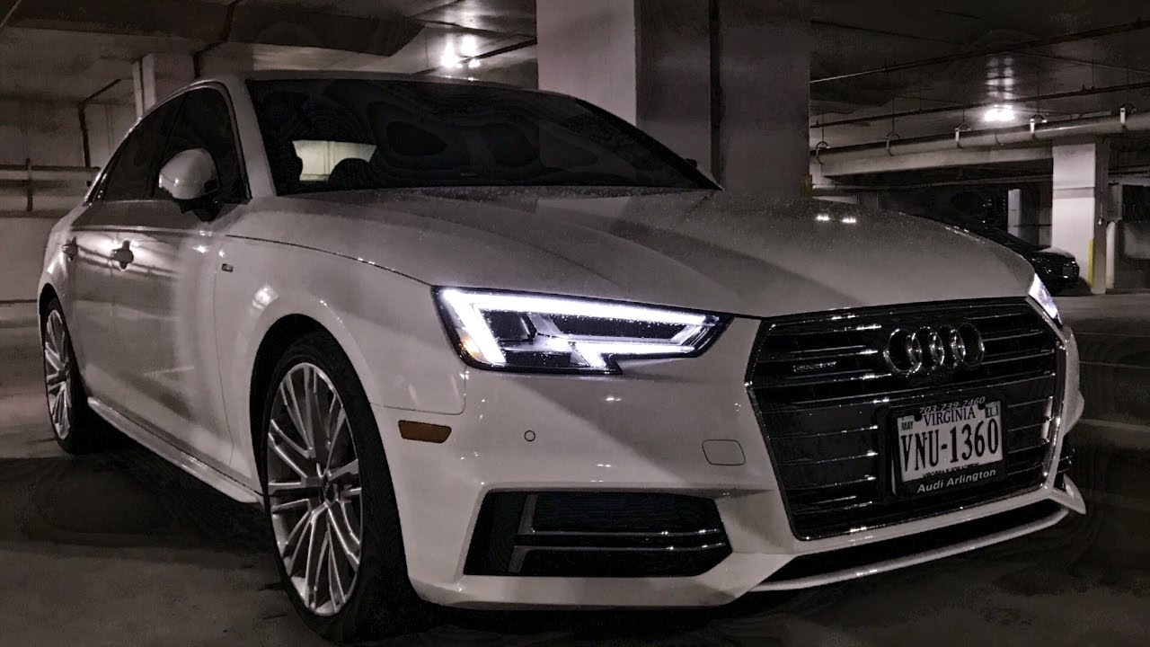 2017 Audi A4 Night Review Led Lighting Youtube