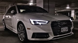 2017 audi a4 night review led lighting