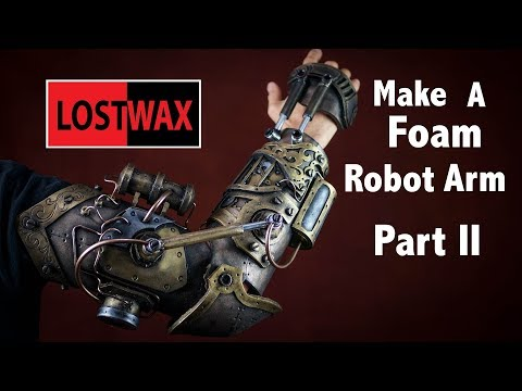 How to make a steampunk gauntlet from foam PART 2. DIY cosplay robot arm