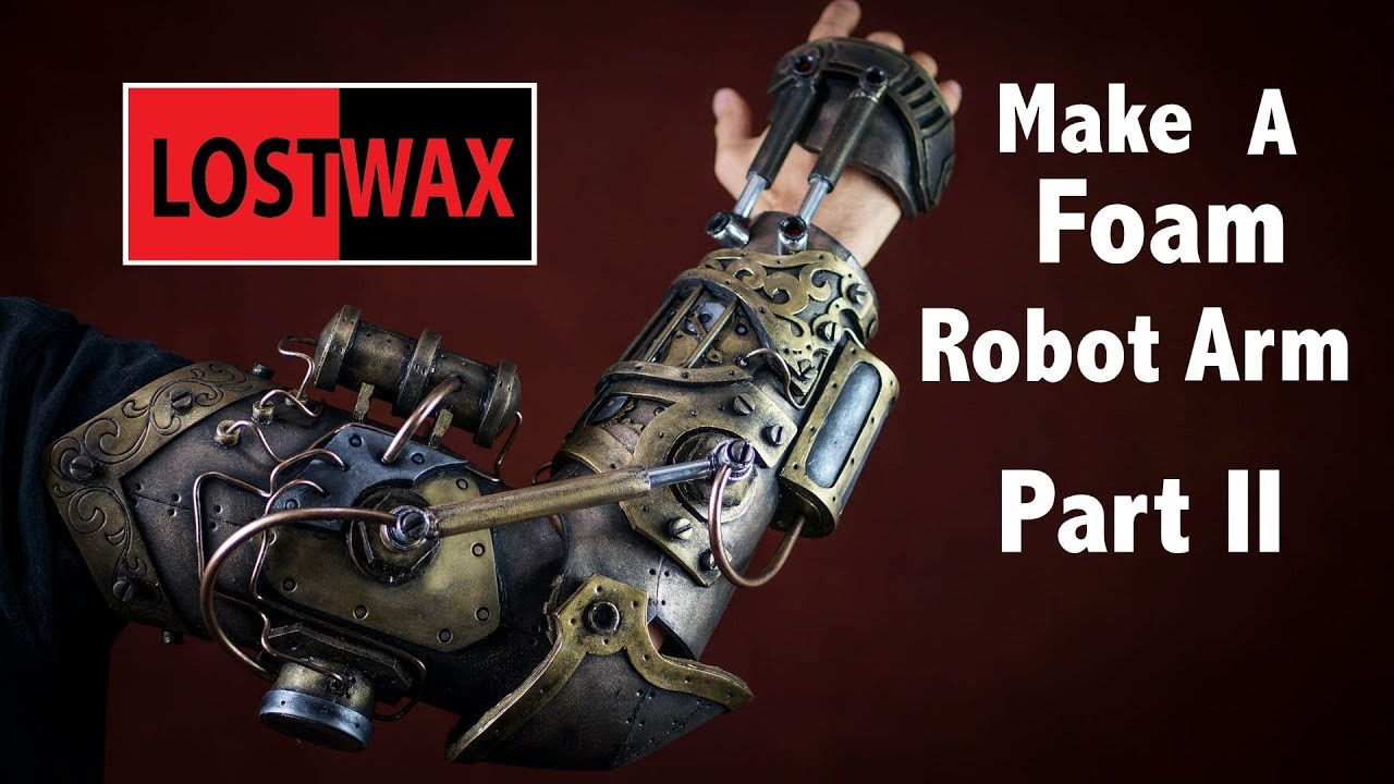 How To Make A Steampunk Gauntlet From Foam Part 2 Diy Cosplay Robot