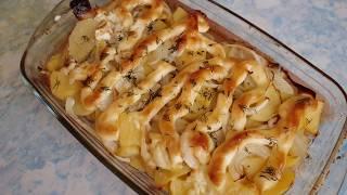 супер картошка в духовке с майонезом и луком. Объедение !!!
