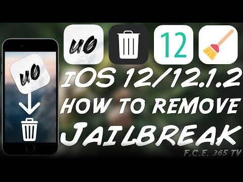 iOS 12.1.2 / 12.0 HOW TO REMOVE (UNJAILBREAK) Unc0ver JAILBREAK AND START FRESH