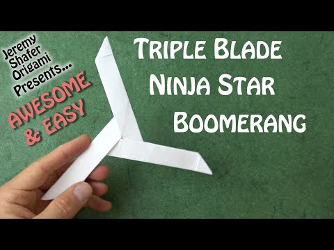 Triple Blade Ninja Star Boomerang - AWESOME & EASY and Really Comes Back!