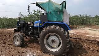 Sonalika MM-60 tractor pulling 2 harrow in madina harrow competition
