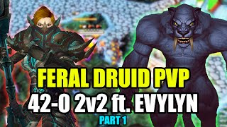 WoD 6.2.2 Feral Druid PvP: Feral/Fury Warrior 2v2 42-0 ft. Evylyn #1 [World of Warcraft 6.2]