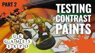 #UKGE2019 Trying GW Contrast Paints Part 2 (Games Workshop)