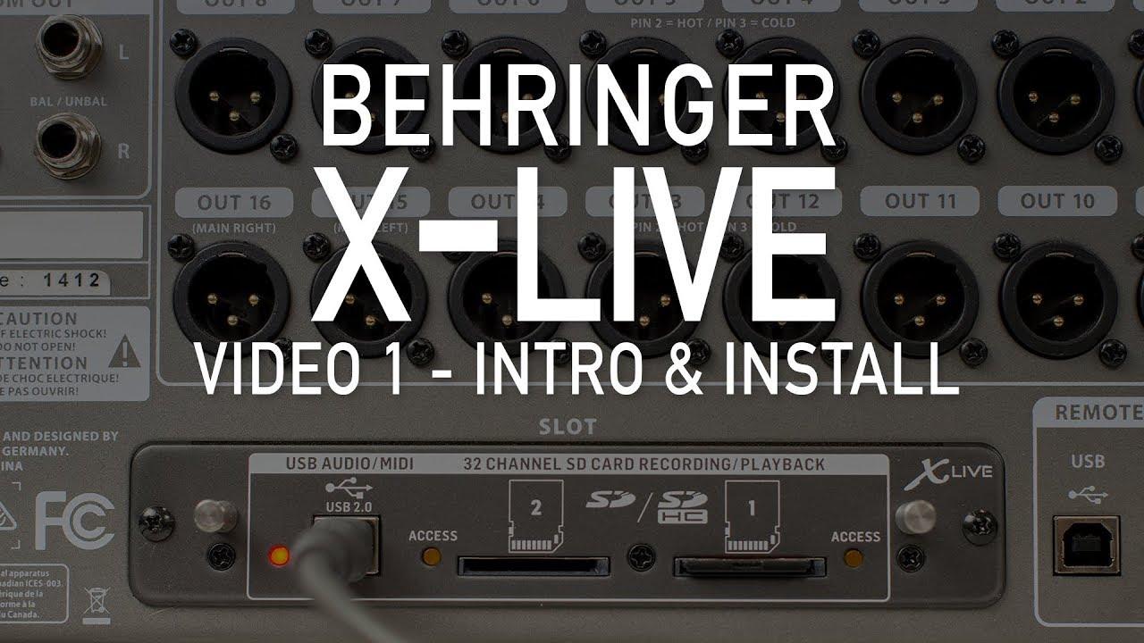 BEHRINGER X-LIVE DRIVER