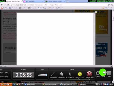 como colocar musica no perfil do orkut