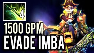 MOST EVADE HERO IN THE WORLD! Machine Gun Alchemist with 1500 GPM and 4 BUTTERFLY 7.04 Dota 2