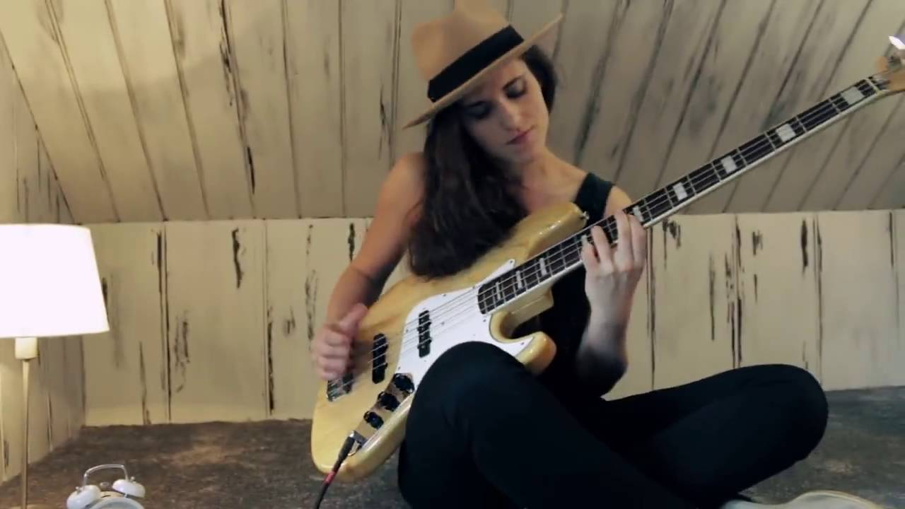 an amazing girl plays bass tears in heaven youtube
