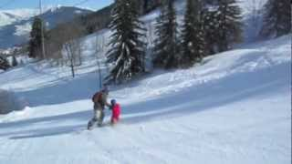 baby snowboarder eliotman 3years old