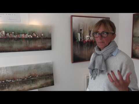 Exposition Galerie l'Onde Courseulles sur mer Agnes Marienne Août 2016