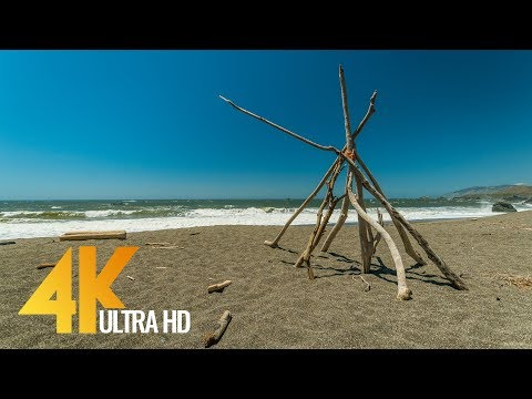 4K UHD Ocean View & Waves Sound - 2 Hours Pacific Ocean Sounds