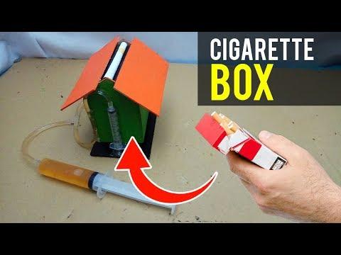 DIY unique cigarette box from cardboard using syringe