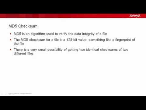 How To Use MD5 Checksum in Avaya Communication Manager - YouTube