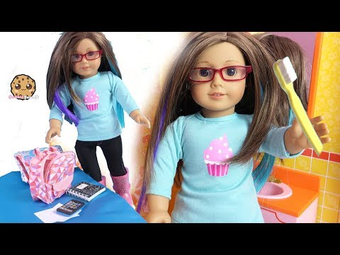 School Morning Routine ! Get Ready with My American Girl Doll - Video