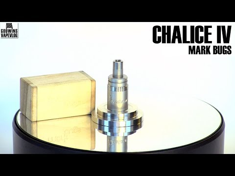High End DIY Bottom Feed Atomizer - Mark Bugs Chalice IV - S