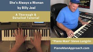 She's Always a Woman (Billy Joel), Free Tutorial!