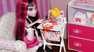 How To Make A Baby High Chair For Doll (monster High, Mlp, Eah, Barbie, Etc)