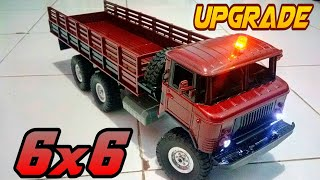 Upgrade 6x6 rc truck military wpl b-24