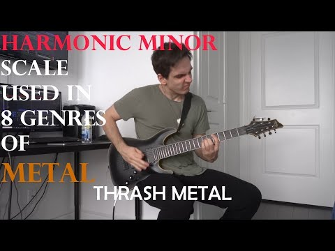 The Harmonic Minor Scale Used in 8 Genres of Metal