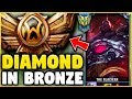 I TOOK MY SION INTO BRONZE FOR THE FIRST TIME EVER! DIAMOND SION VS BRONZE ELO! - League of Legends