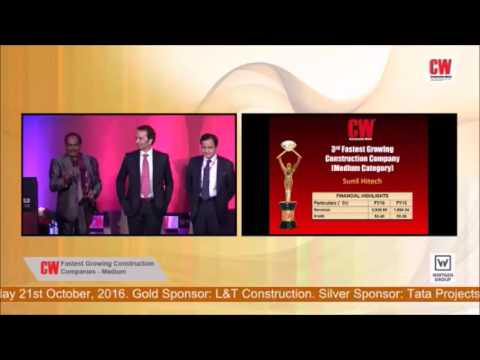 14th CW Annual Awards 2016 - Sunil Hitech Group