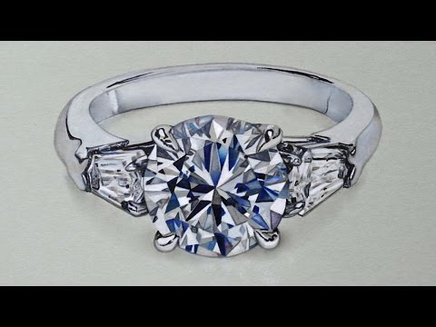 Drawing a Diamond Ring, Hyperrealistic art