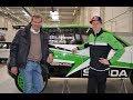 Markku Alén & Kalle Rovanperä Skoda Motorsportin tehtaalla (Teknavi 2019)