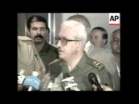 IRAQ: TARIQ AZIZ LAUNCHES ATTACK ON UN WEAPONS INSPECTOR BUTLER