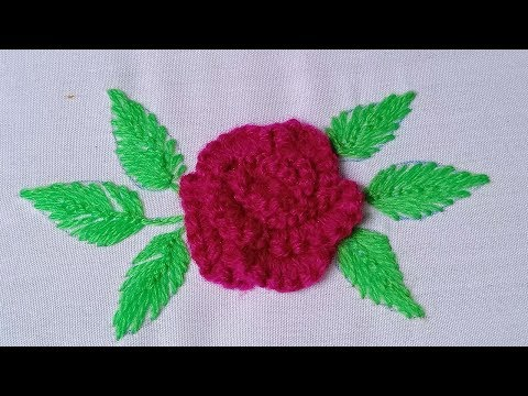 Hand Embroidery #211:Simple embroidery flowers. Beautiful embroidery flowers
