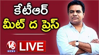 KTR Meet The Press LIVE | TRS Working President | V6 News