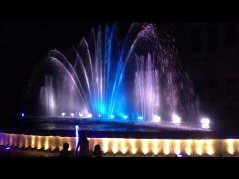 Spectacular musical fountain in Pitesti, Romania