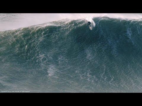 Monster Wave: Alex Botelho @ Nazaré, Portugal - 2018-01-06 - Biggest Paddle Ever [Surf, Big Waves]