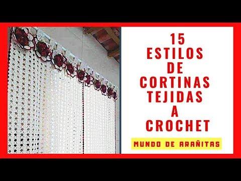 CORTINAS❤️ tejidas a crochet | crochet CURTAINS