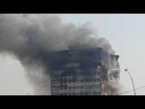 """""""Plasco"""" Building Collapses in Tehran (another view)"""