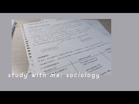 Study with me: sociology