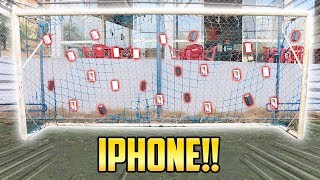 TAMPANDO O GOL COM IPHONE ( quebrei o iphone x ?! )