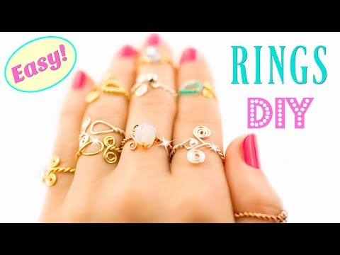 10 DIY Rings EASY DIY Rings With a Twist! How To Make a Ring | HelenaDaydreamer - YouTube