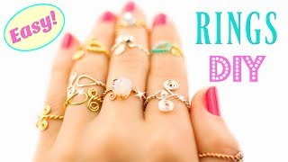 10 DIY Rings EASY DIY Rings With a Twist! How To Make a Ring | HelenaDaydreamer