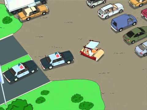 Family Guy Flintstone Car Chase Youtube