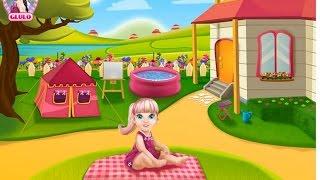 NEW Игры для детей 2015—Disney Принцесса Барби нянчится—Мультик онлайн видео игры для девочек
