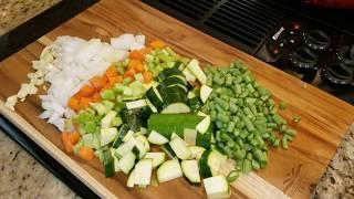 Minestrone Meets Tortellini Soup