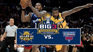 BIG3 Championship | Killer 3s vs Triplets | Full Game Cutdown