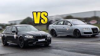 BMW M5 F10 vs Audi RS6 C6 Sedan - RACE!