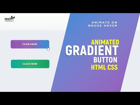Creative Animated Gradient Button with HTML & CSS | Create Stylish Buttons thumbnail