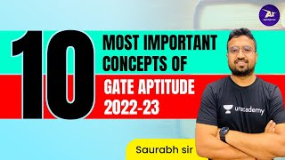 10 Most important concepts of GATE Aptitude 2022-23   Special Session by Saurabh Sir