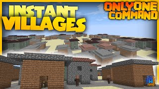 Minecraft - Village Generator | Only One Command! | No Mods! (Vanilla)